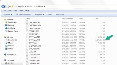 Large files